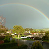 Double rainbow Gawler South Australia late afternoon 6th August 2011