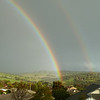Double rainbow Gawler South Australia late afternoon 6th August 2011, photo taken from the front of our house.