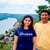 In 2007, Raja visited Austin few times - this is at Mount Bonnell