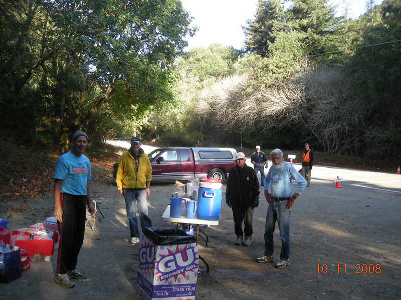 The 3rd. AS, Big Bear Gate, at mile 10.5. There would be a cutoff, of 10.5 hrs race time, to face on the way back.