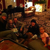 Photo of the family at the Hotel Monaco in Portland
