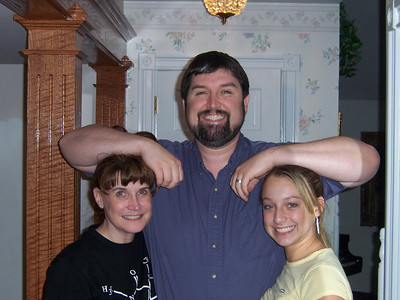 George, his sister Georgette, and his niece, Lori.  Yes, they are actually related.