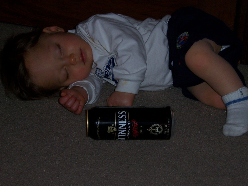 Ethan Slepner, like father, like son, 1 beer, and that's all folks.