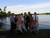 The gang from George's work at Holly and George's wedding.