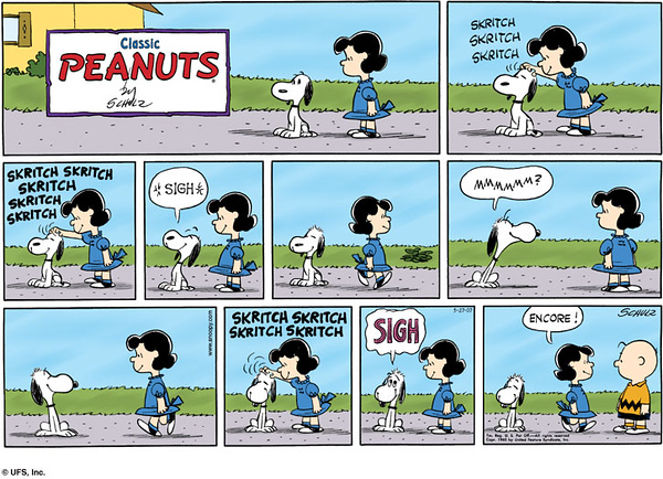 One of George's favorite cartoons, 'cause he likes the skritch.
