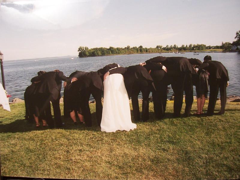 Bottoms up!  We had a fun wedding.