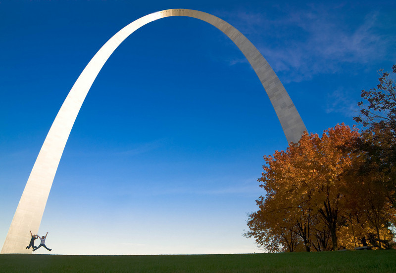 St Louis Arch<br /> <br /> - two random people that were jumping for their friends while I was at the Arch