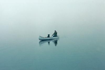 Fog and Canoe