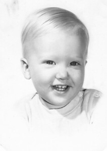 My younger brother, Charlie, at about two years old