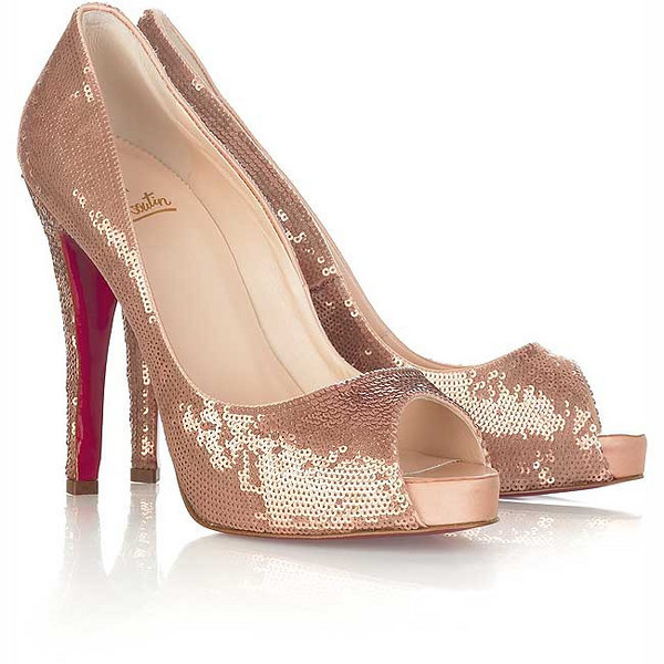 Christian Louboutin heels, very Bling Bling