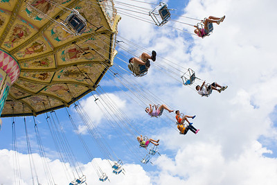 Wave Swinger.  Montgomery County Agricultural Fair.  Gaithersburg, MD. First page on the Gaithersburg Gazette
