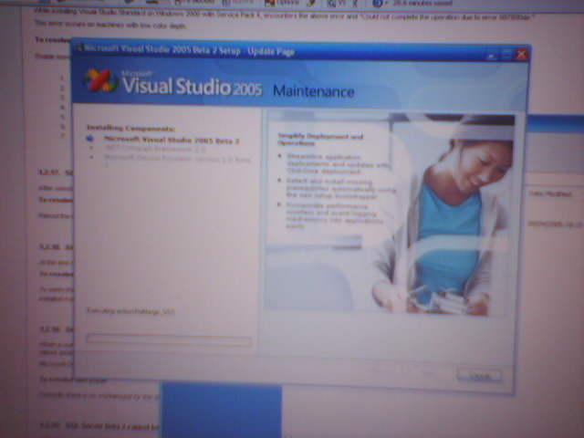 Visual studio 2005 reinstall
