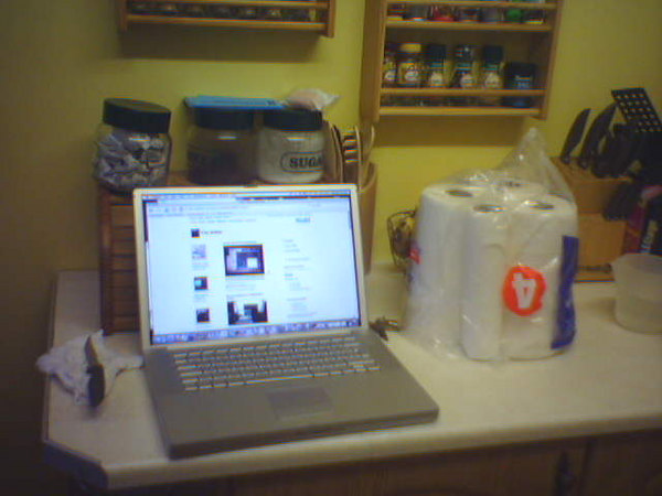 powerbook in kitchen
