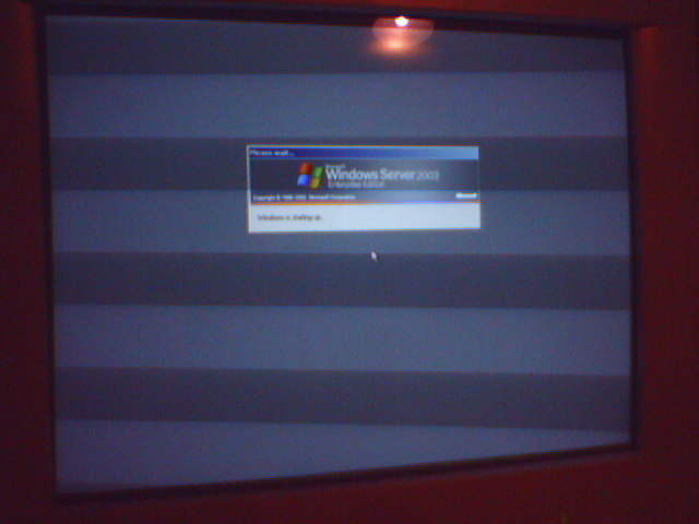 Rebooted server