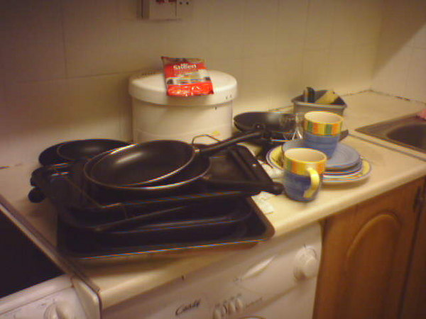 mess in the kitchen