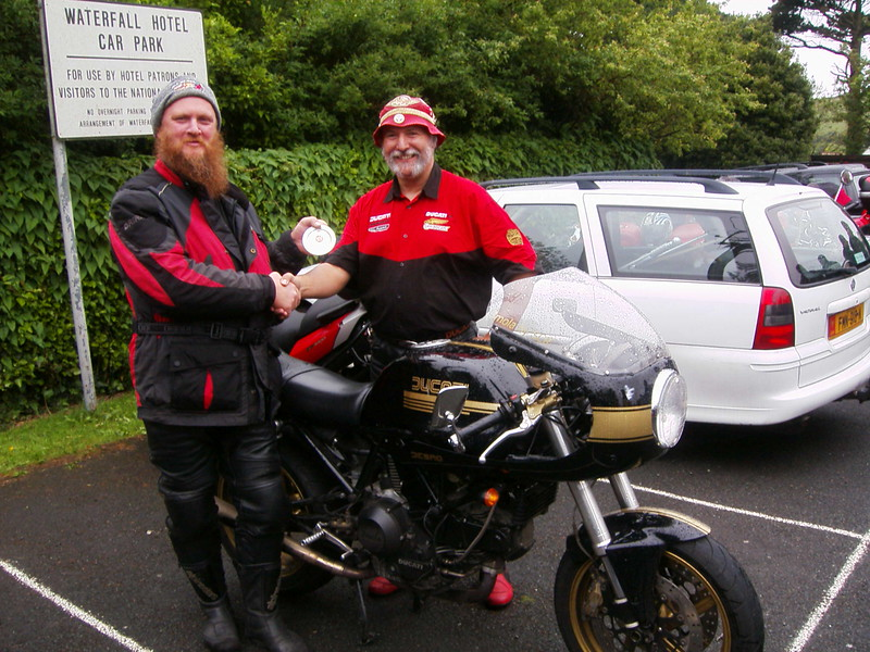 Waterfall Pub Isle of Man Ducati gathering Mad Sunday. I won Best Special with my Baines Imola. 2007