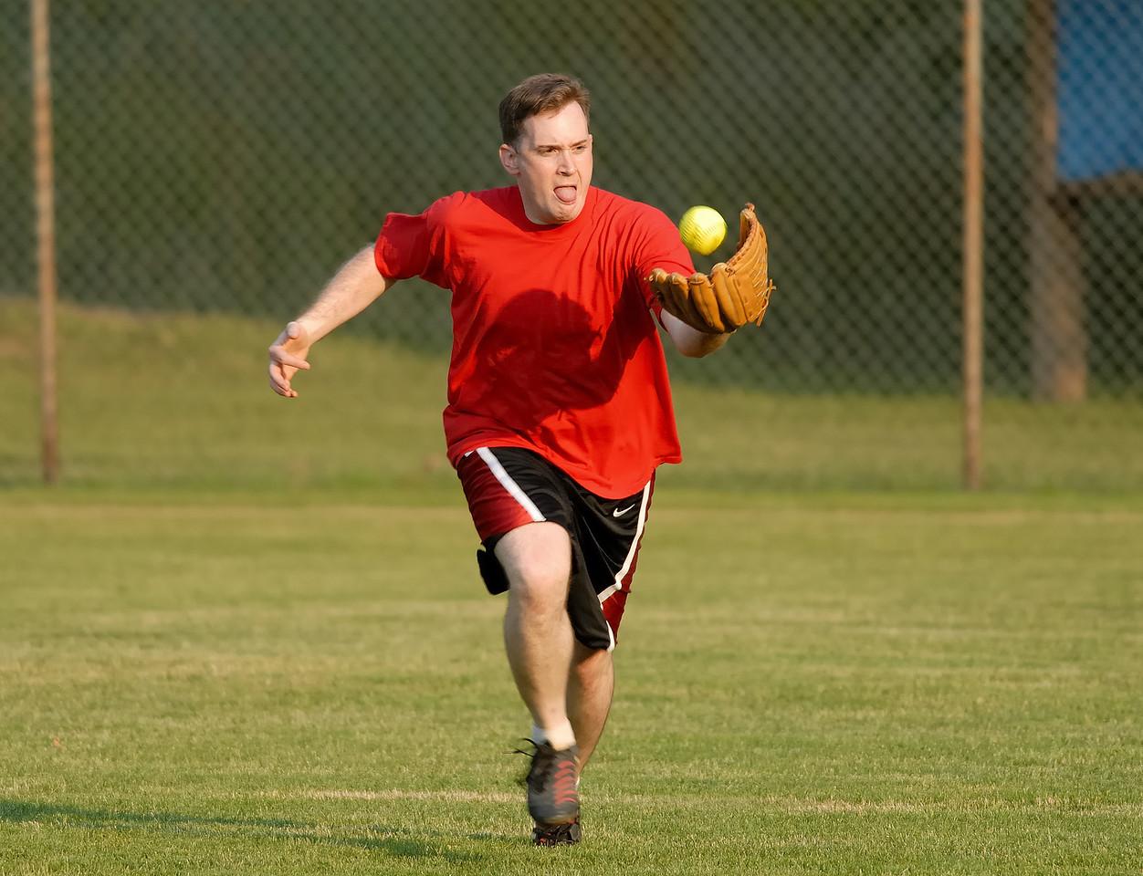 Drew catching (finally) a ball!