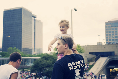 Celebration at the Station in Kansas City, Liberty Memorial...random little girl having fun. 2010