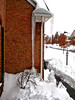 """""""Snowmageddon"""" Ridiculously large icicle makes it all the way to the ground."""