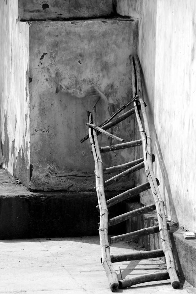 A ladder that has seen better days