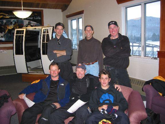 Ski Instructor Qualification School 2002 - 2003 Season<br /> Bottom L2R: Scott/Me, Brian, Patrick, Top: Nestor, Mark, Keith