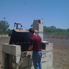 Easter at Choke Canyon, Barry tending the smoker