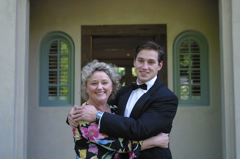 With mom in front of the Ritchey's house before the Neuman's wedding