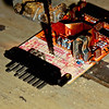 AMR1173 ECU - using a band saw to cut the pc-board