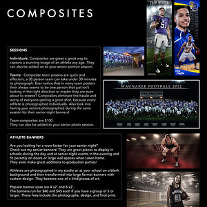 Composite photography is the art of building one image from many.  It is a specialized technique I use for athlete portraiture.  It allows me to work with athletes in a controlled environment like my studio or a gym so that I can later put them into settings that I photographed or built in photoshop separately.