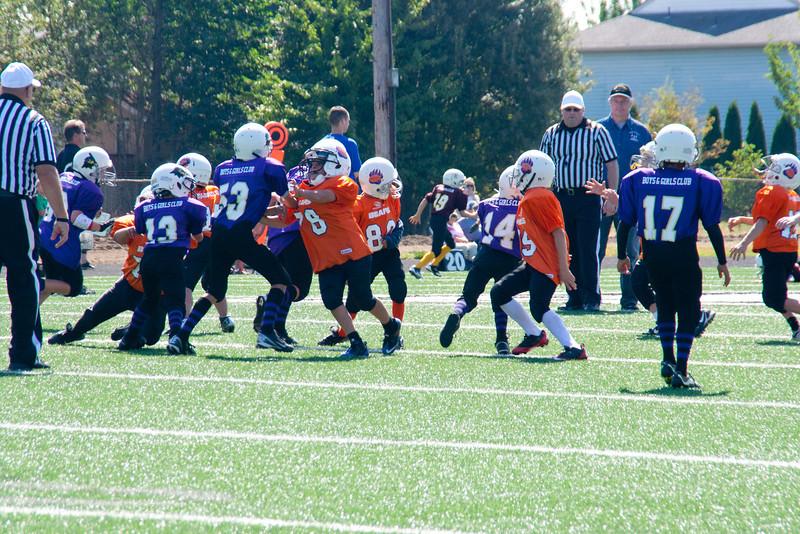 8-25-2012 Ethan# 13 Raven's football Jamboree