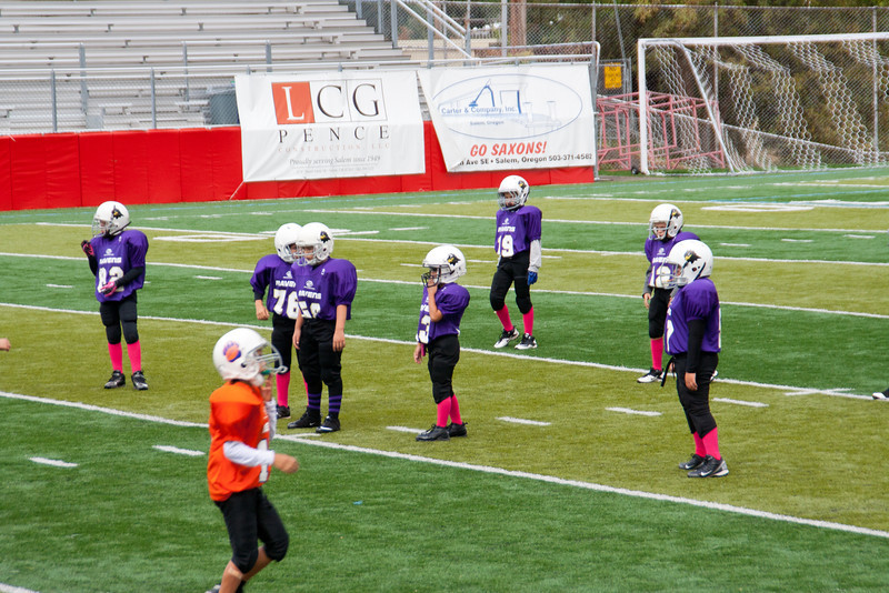 10-13-2012 Ethan and Raven's defense, wiating for the play to start