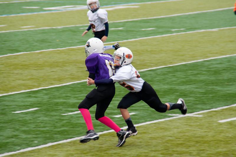 10-20-2012 Grady# 15 getting tackled