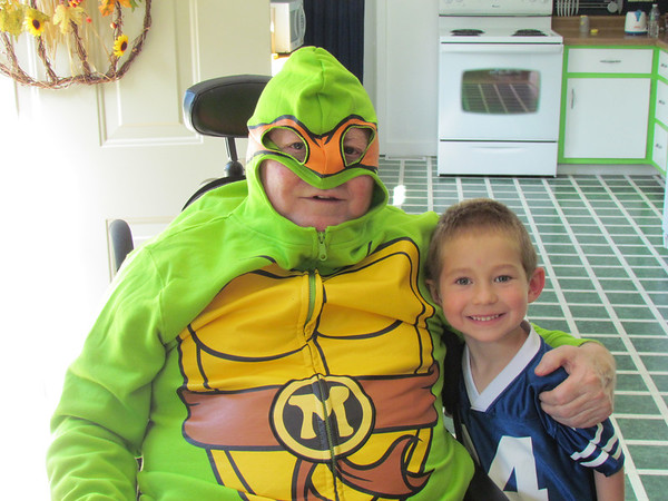 Mike Fox and Landon Metz show off their Halloween costumes.<br /> <br /> Photographer's Name: Brian Fox<br /> Photographer's City and State: Anderson, Ind.