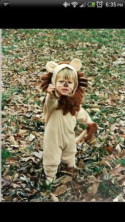 Little lion: Morgan Mattox<br /> <br /> Photographer's Name: Sallie Mattox<br /> Photographer's City and State: Anderson, Ind.