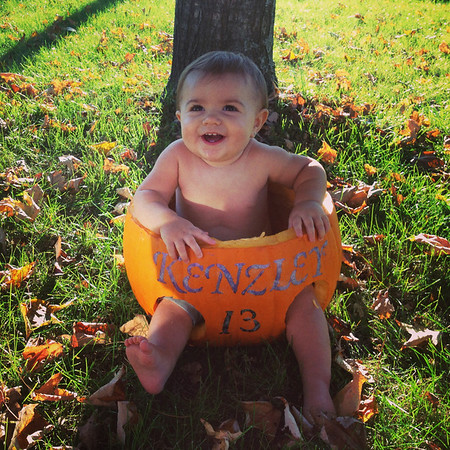 Kenzley Rae's first Halloween!<br /> <br /> Photographer's Name: Megan Hollowell<br /> Photographer's City and State: Anderson, Ind.