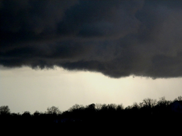 Sunday, Nov. 17 storm cloud.<br /> <br /> Photographer's Name: Rita Drews<br /> Photographer's City and State: Anderson, Ind.