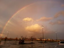 Right hand side of the same ground-to-ground rainbow.<br /> <br /> Photographer's Name: Charles Lambert<br /> Photographer's City and State: Anderson, Ind.