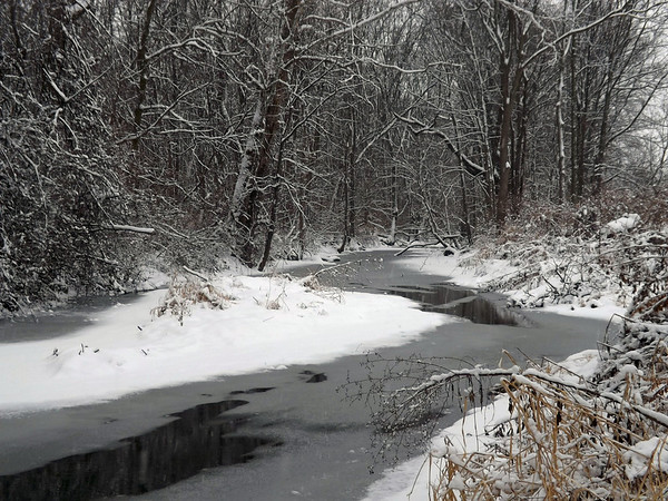 Killbuck Creek in December, taken at my farm in Richland Township.<br /> <br /> Photographer's Name: J.R. Rosencrans<br /> Photographer's City and State: Alexandria, Ind.