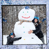 An extra large Indiana snowman.<br /> <br /> Photographer's Name: Barbara Shafer<br /> Photographer's City and State: Alexandria, Ind.