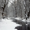 """Killbuck Creek snow,"" taken at my farm in Richland Township.<br /> <br /> Photographer's Name: J.R. Rosencrans<br /> Photographer's City and State: Alexandria, Ind."