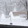 Snow horse! Our neighbors get creative with snow!<br /> <br /> Photographer's Name: Chelsea Baledge<br /> Photographer's City and State: Alexandria, Ind.