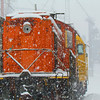 Trains and snow.<br /> <br /> Photographer's Name: Brian Fox<br /> Photographer's City and State: Anderson, Ind.