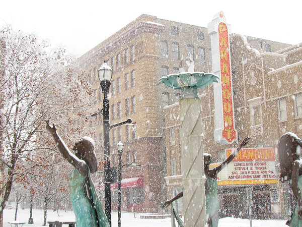 The Paramount in the snow.<br /> <br /> Photographer's Name: Brian Fox<br /> Photographer's City and State: Anderson, Ind.