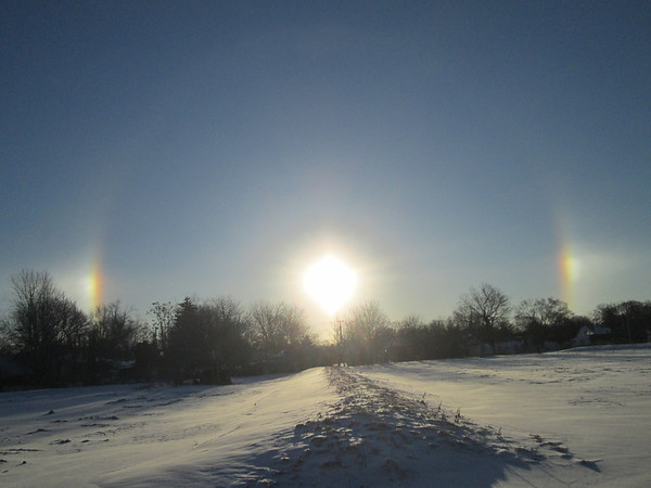 Sun dog over compost site at 2000 W. 8th St.<br /> <br /> Photographer's Name: Richard Kelley<br /> Photographer's City and State: Anderson, Ind.