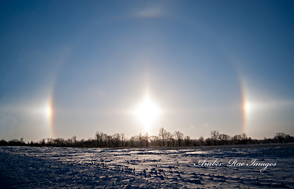 Sun dogs.<br /> <br /> Photographer's Name: Amber Waller<br /> Photographer's City and State: Anderson, Ind.