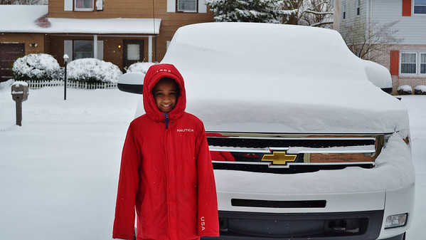 My grandson, Jalen Kemmerlin, getting ready to help Grandma shovel snow on Thursday.<br /> <br /> Photographer's Name: Colleen Sanders Brown<br /> Photographer's City and State: Anderson, Ind.