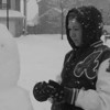 Serina Stinson making a snowman.<br /> <br /> Photographer's Name: Yolanda Stinson<br /> Photographer's City and State: Anderson, Ind.