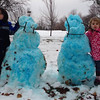 My grandchildren, Matthew and Isabelle, with their Colts snowmen.<br /> <br /> Photographer's Name: Paula  Hines-Spradlin<br /> Photographer's City and State: Anderson, Ind.
