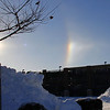 This is a sun dog over Walmart in Anderson this morning.<br /> <br /> Photographer's Name: Jerry Byard<br /> Photographer's City and State: Anderson, Ind.
