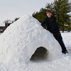 Cole Buck, 11, of Pendleton made this igloo with his dad after the snowstorm. Cole is the son of Derrick and Stephanie Buck of Pendleton; grandparents are Frank and Pat Dick of Anderson and Bruce and Sue Buck of Anderson.<br /> <br /> Photographer's Name: Stephanie Buck<br /> Photographer's City and State: Pendleton, Ind.